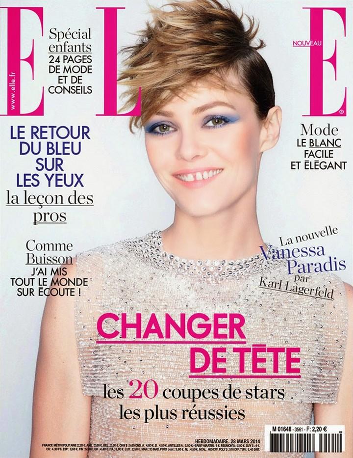Ванесса Паради в фотосессии Карла Лагерфельда для Elle France 2014