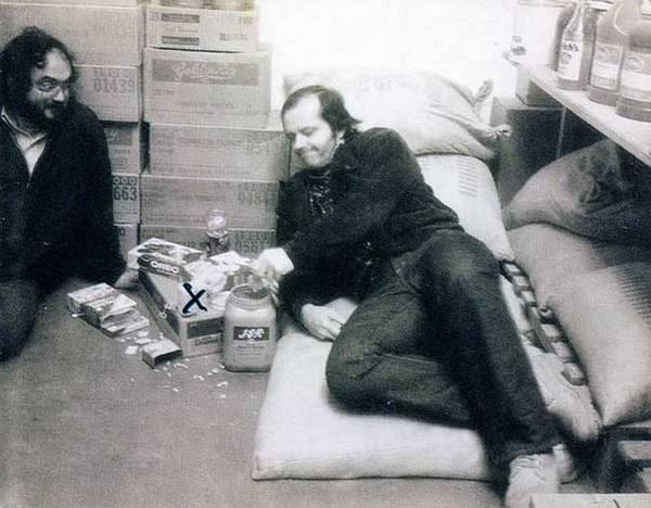 "Стэнли Кубрик и Джек Николсон на съемках фильма ""Сияние"", 1979 год"