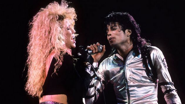 Шерил Кроу и Майкл Джексон во время промотура «Bad»
