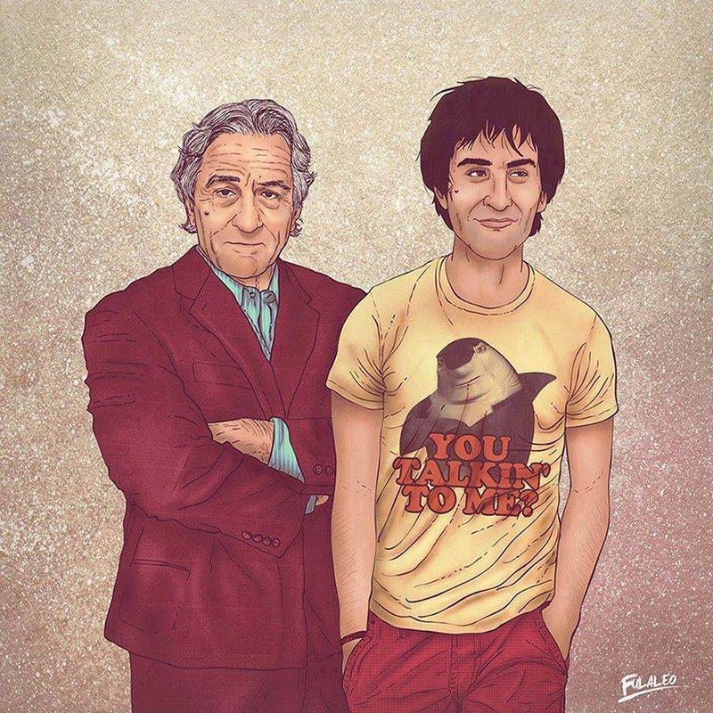 Знаковые мужчины на рисунках Fulaleo