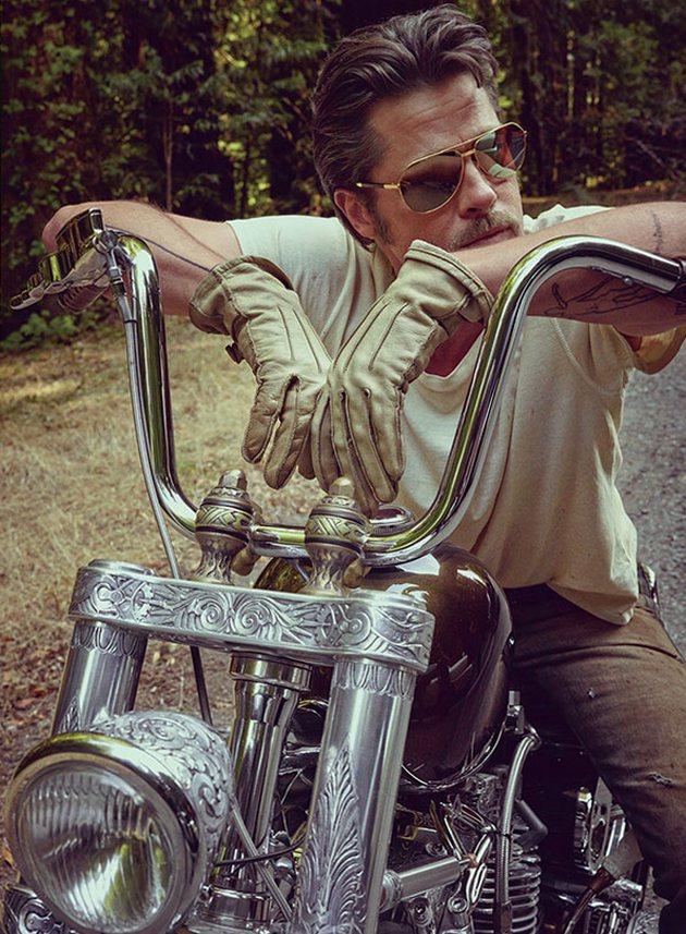 Брэд Питт в фотосессии для журнала Details, ноябрь 2014