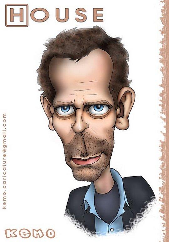 Карикатуры на Хью Лори