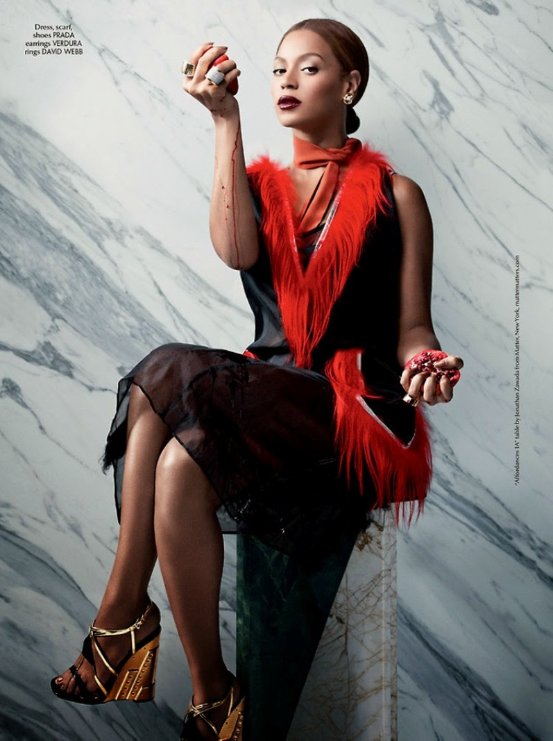 Бейонсе для 5-го выпуска CR Fashion Book, осень-зима 2014