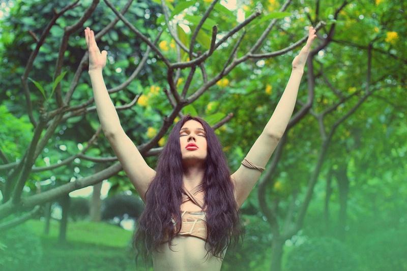 Борис Апрель: фотосессия в стиле джунгли
