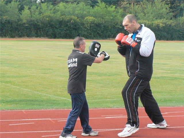 Николай Валуев на тренировках