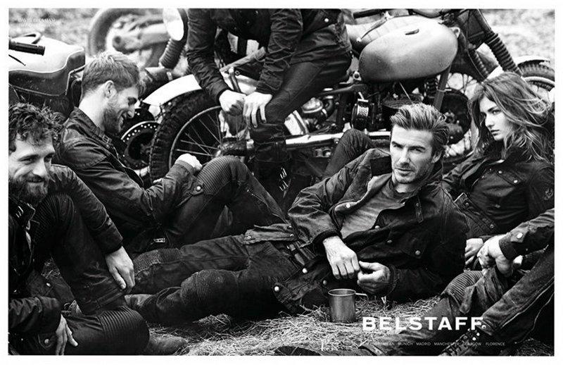 Дэвид Бекхэм и Андреа Диакону в рекламной кампании Belstaff S/S 2014