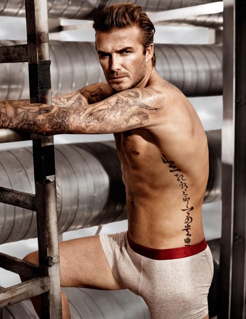 Дэвид Бекхэм в рекламной кампании нижнего белья бренда H&M Весна 2014