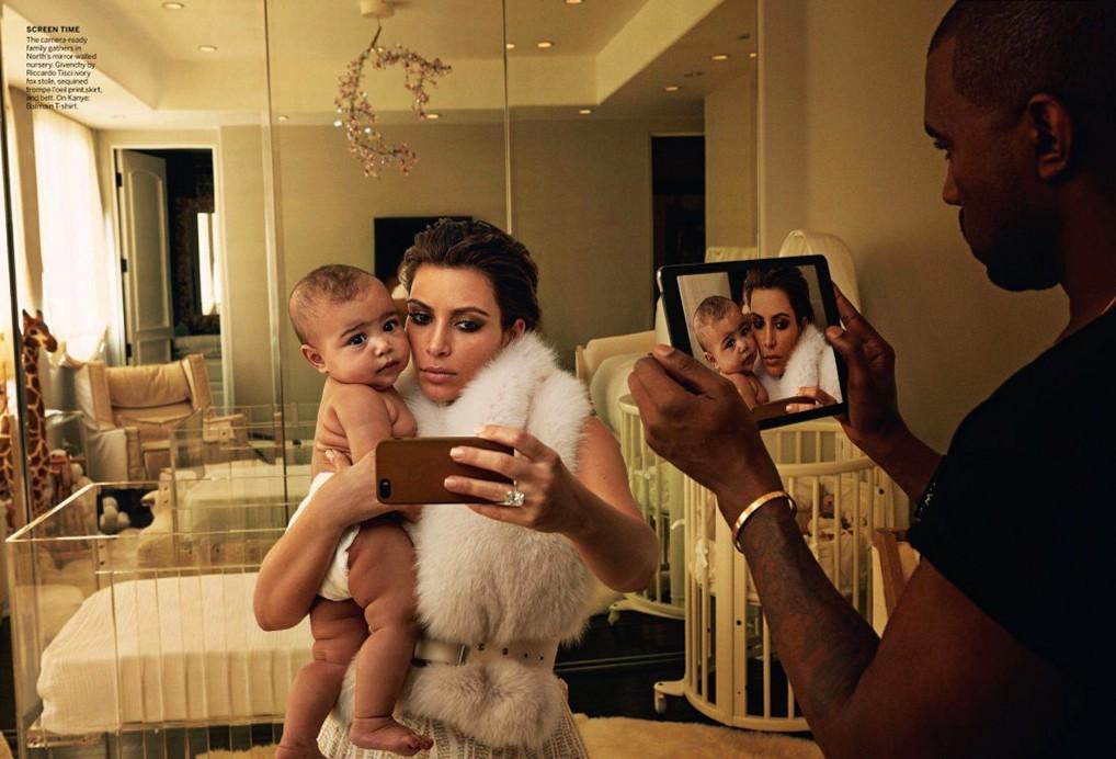Ким Кардашиан и Канье Уэст для Vogue US, апрель 2014