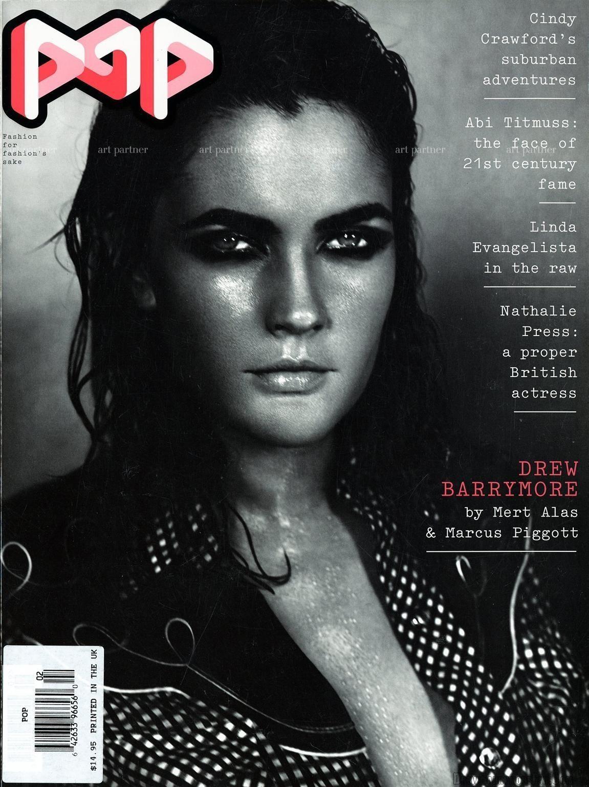Дрю Берримор на обложках журналов