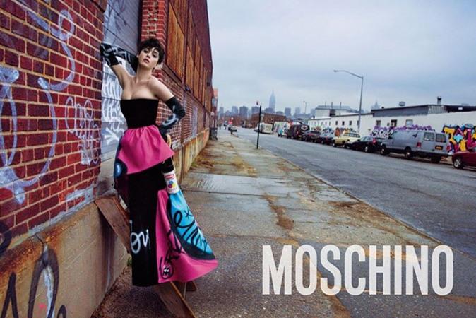 Кэти Перри в рекламной кампании Moschino, осень/зима 2015