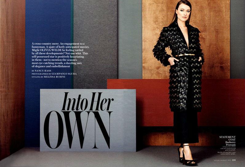 Оливия Уайлд для журнала InStyle USA, август 2013