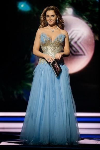 """Роскошные платья Оксаны Марченко в шоу """"Х-фактор-3"""""""