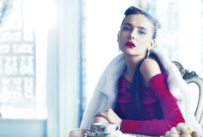 Снежана Онопка на страницах журнала Tatler