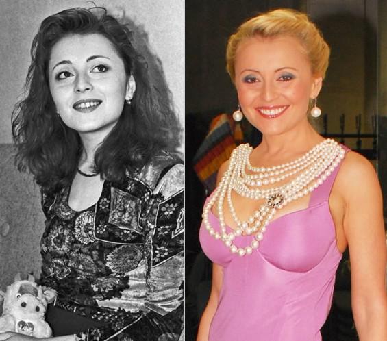 Анжелика Варум в 1993 году и в 2009 году