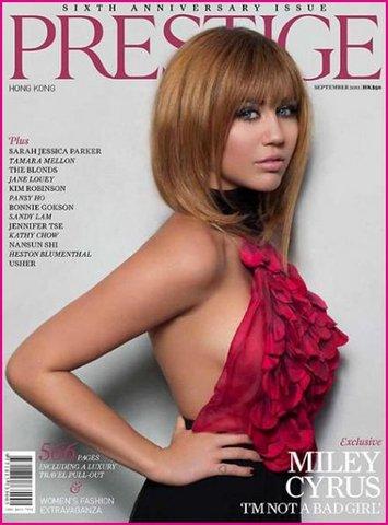 Майли Сайрус: девушка с обложки Prestige