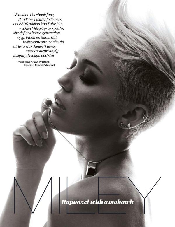 Майли Сайрус для Elle UK