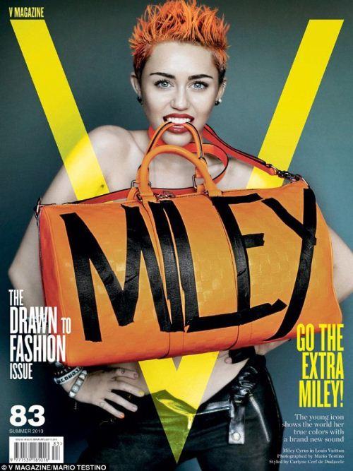Майли Сайрус на обложках журналов