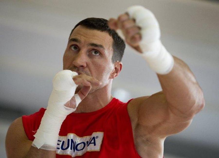 Владимир Кличко на тренировках