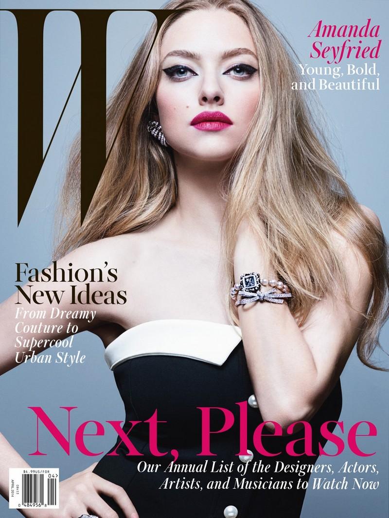 Аманда Сейфрид для W Magazine, апрель 2014