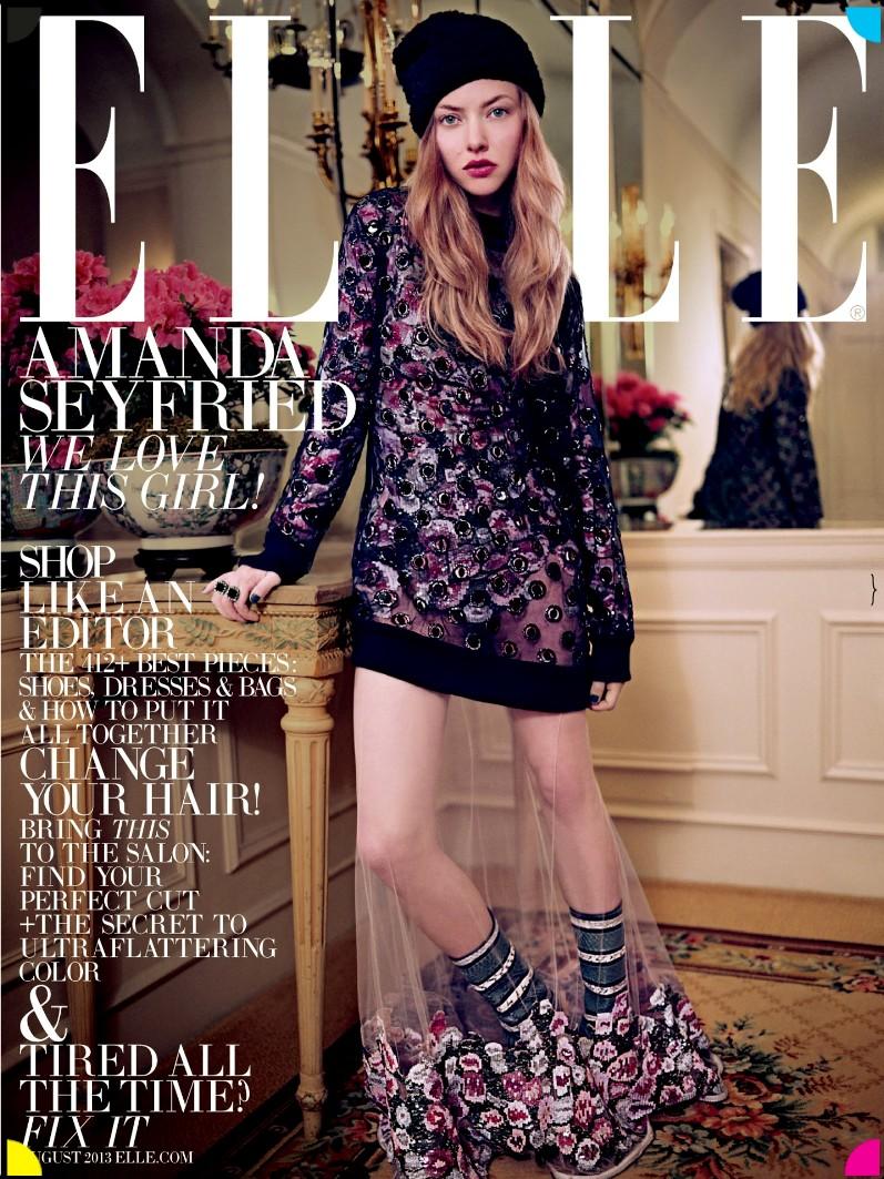 Аманда Сейфрид для журнала ELLE US, август 2013