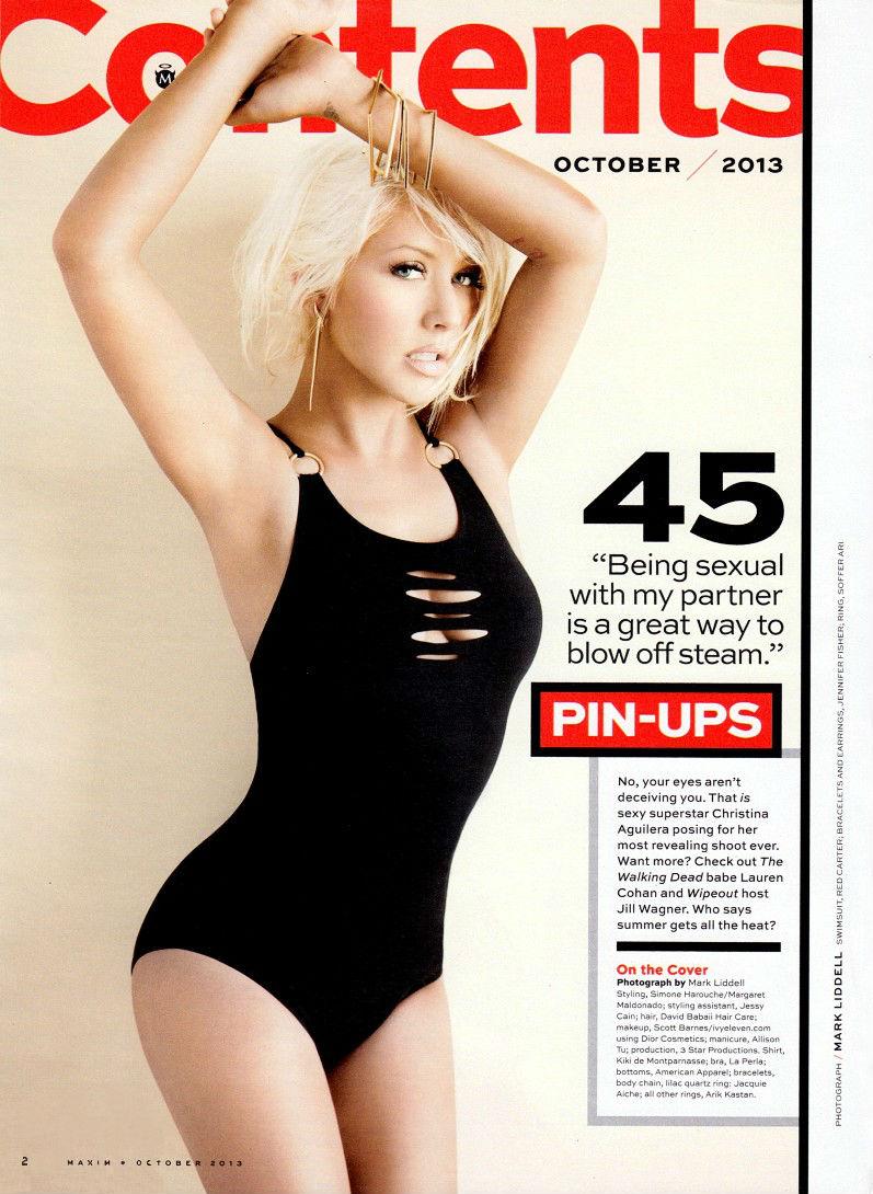 Кристина Агилера в фотосессии для журнала Maxim USA, октябрь 2013