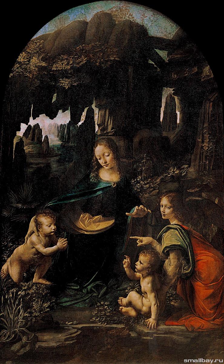 схема вышивки картина художника леонардо да винчи
