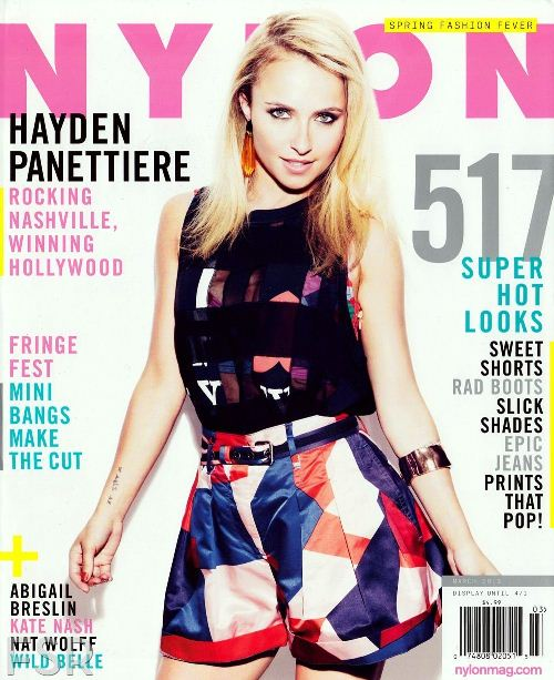 Хайден Панеттьер на обложках журналов