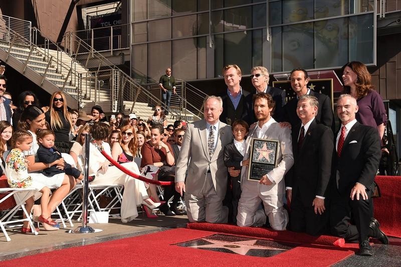 Звезда Мэттью МакКонахи на Аллее славы в Голливуде