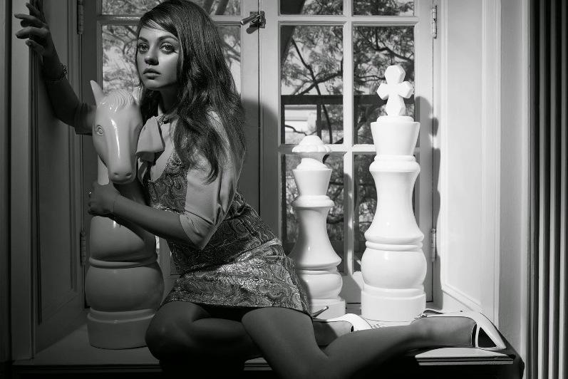 Мила Кунис в фотосессии Майкла Томпсона для W Magazine, август 2014