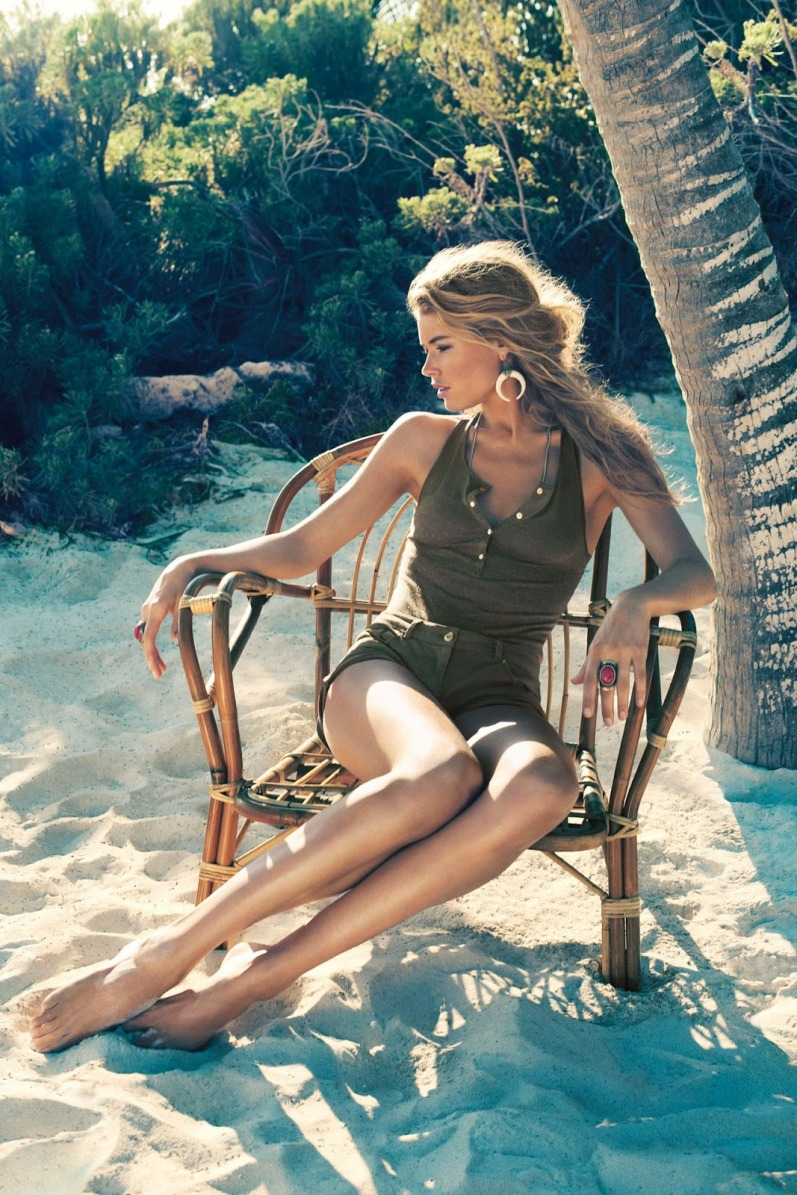 Даутцен Крус для летней рекламной кампании H&M HIGH SUMMER 2013