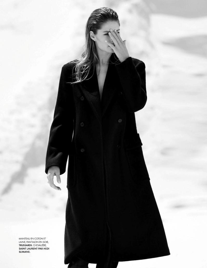 Даутцен Крус в фотосессии Бруно Стауба для журнала Elle France, август 2013