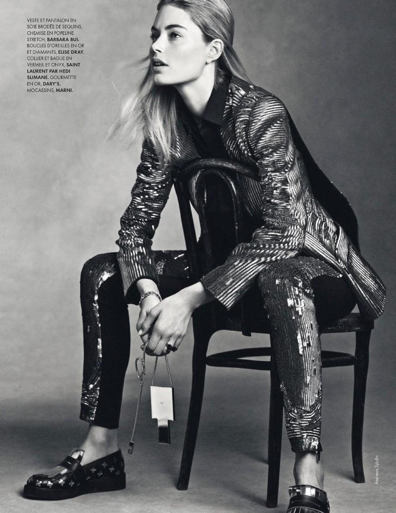 Даутцен Крус в фотосессии Анреаса Содина для журнала Elle France, август 2013
