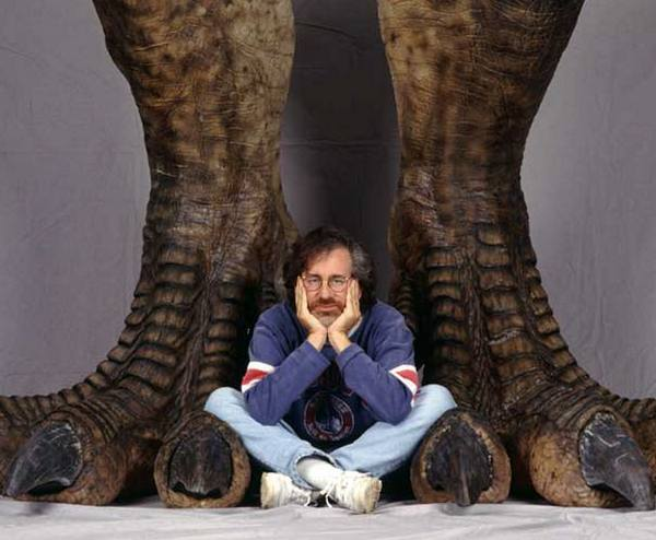 """Стивен Спилберг во время съемок фильма """"Парк Юрского периода"""", 1992 год"""