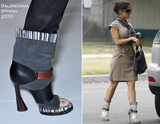 Звездная обувь Сальмы Хайек