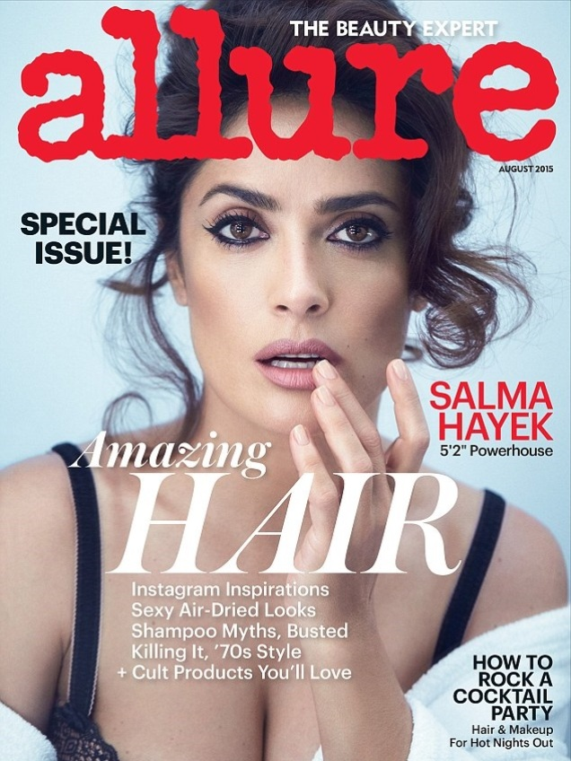 Сальма Хайек в фотосессии Патрика Демаршелье для журнала Allure, август 2015