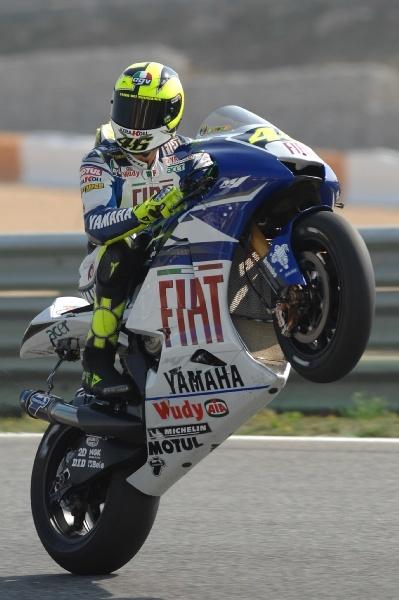 Валентино Росси на треке