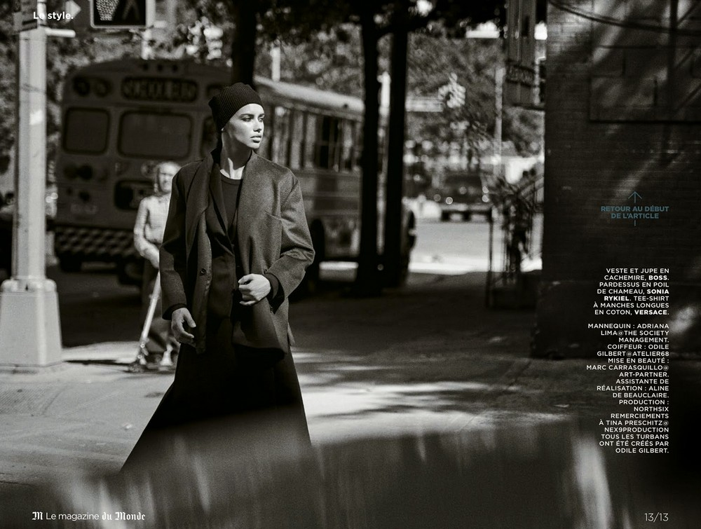 Адриана Лима для M Le magazine du Monde, сентябрь 2014