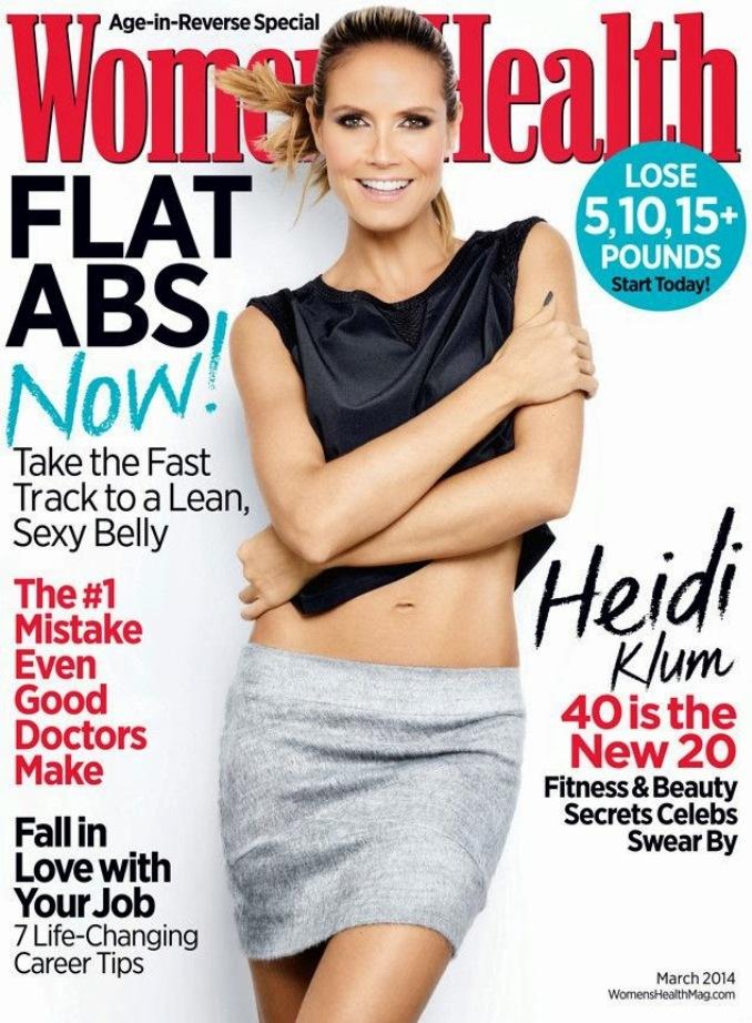 Хайди Клум для Women's Health, март 2014