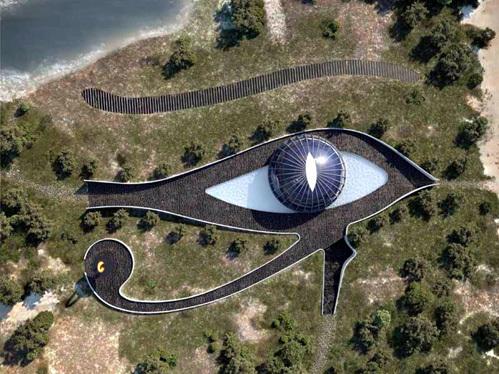 Доронин подарил Наоми Кэмпбелл дом в форме глаза