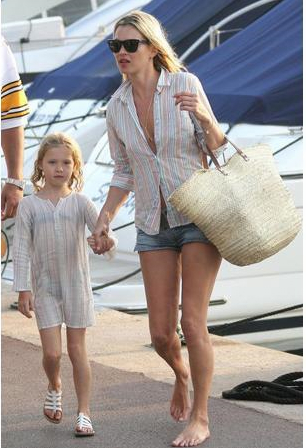 Кейт Мосс с дочерью