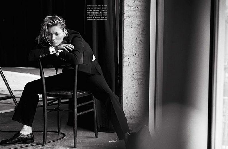Кейт Мосс для Vogue Italia, январь 2015
