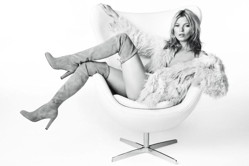 Кейт Мосс в фотосессии Марио Тестино для рекламной кампании STUART WEITZMAN, осень-зима 2013-2014