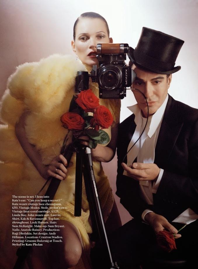 Кейт Мосс и Джон Гальяно в фотосессии Тима Уолкера для VOGUE UK, ноябрь 2013