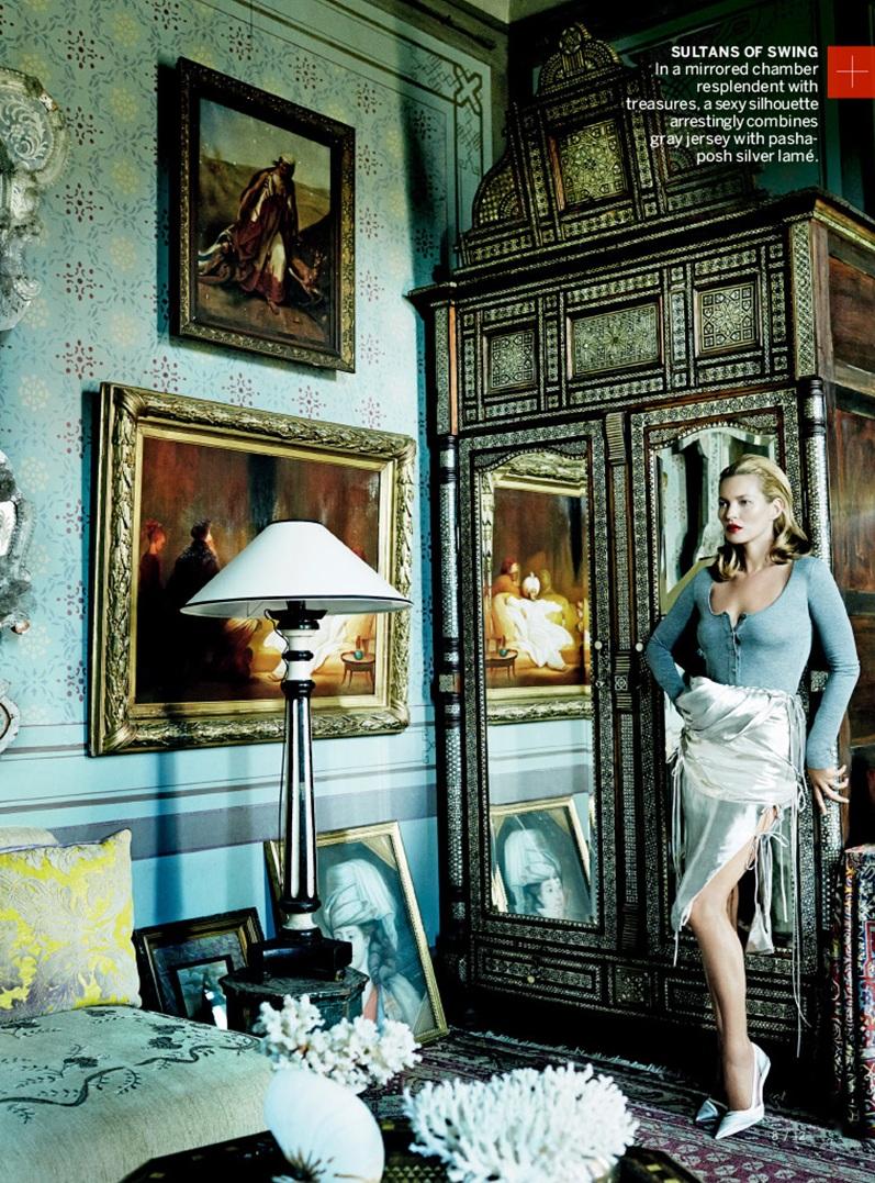 Кейт Мосс и Чиветел Эджиофор для Vogue US, декабрь 2013
