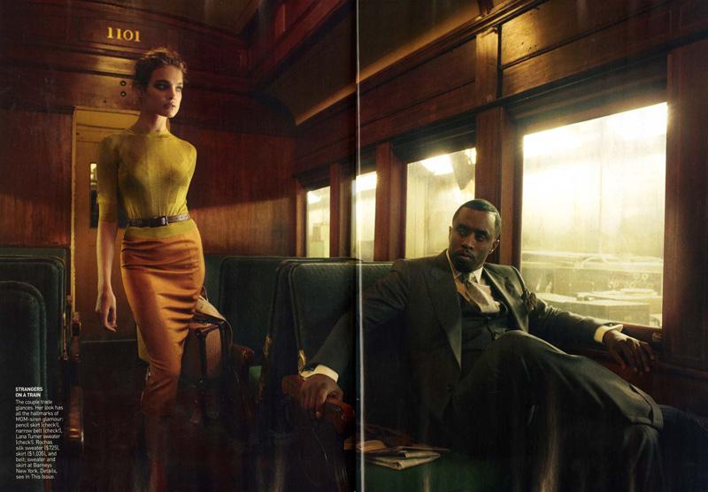Love story Натальи Водяновой и P Diddy для Vogue