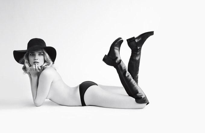 Наталья Водянова в рекламной кампании Stuart Weitzman