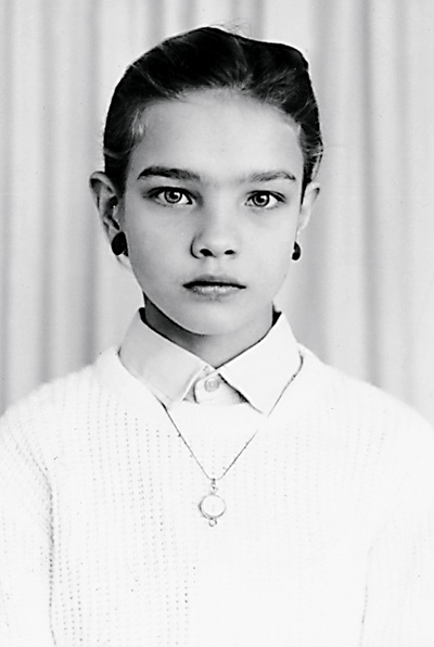 Наталья Водянова в детстве и юности