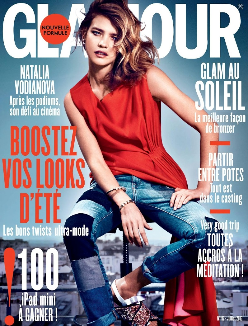 Наталья Водянова для июльского Glamour France
