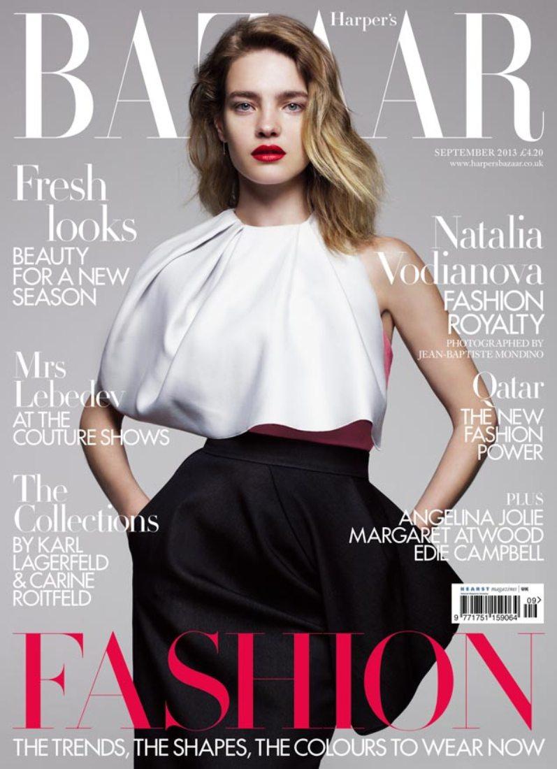 Наталья Водянова для журнала HARPER'S BAZAAR UK, сентябрь 2013