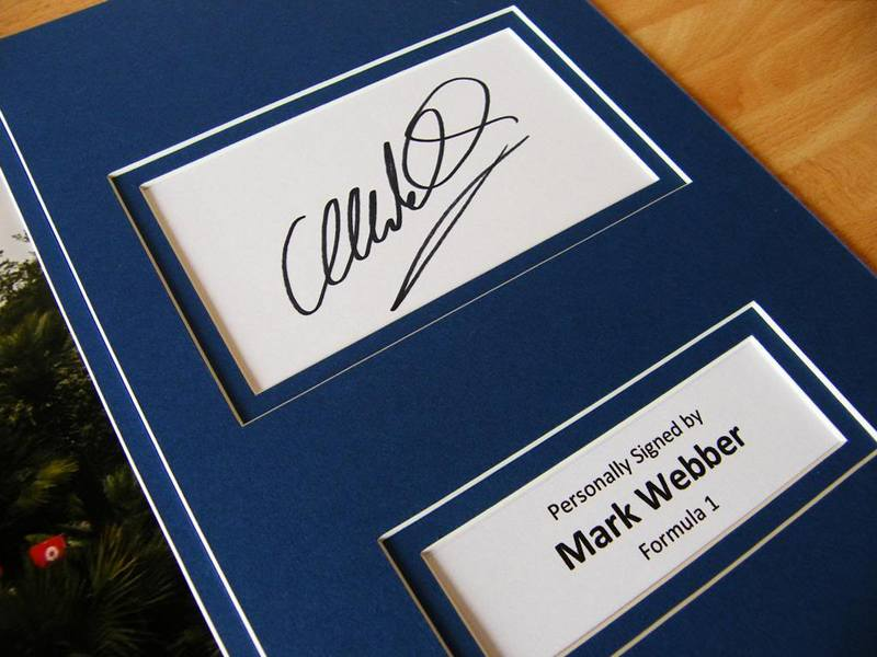 Автограф Марка Уэббера